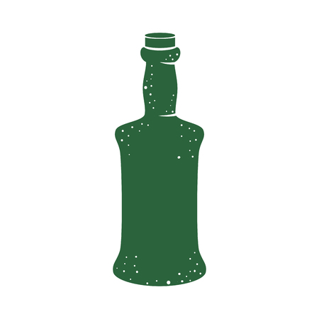 beer bottle isolated icon vector illustration design