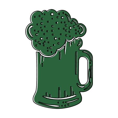beer jar isolated icon vector illustration design 向量圖像