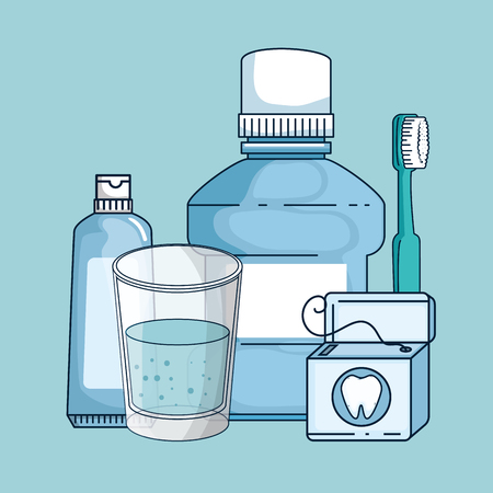 dental medicine equipment hygiene treatment vector illustration