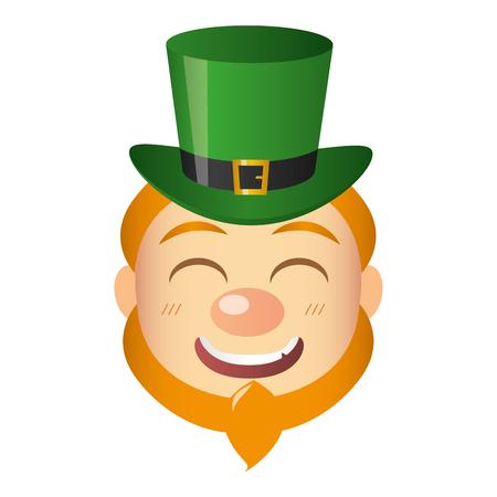 leprechaun face with hat st patricks day vector illustration Reklamní fotografie - 125835592