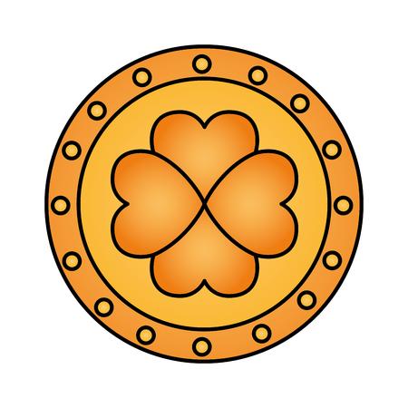 coin clover happy st patricks day vector illustration Illustration