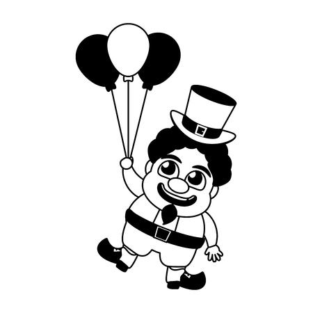 leprechaun with balloons happy st patricks day vector illustration Standard-Bild - 125835692