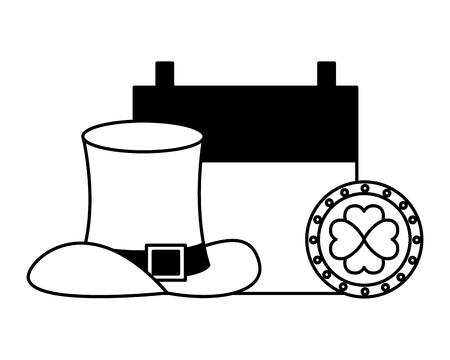hat coin calendar happy st patricks day vector illustration Foto de archivo - 125835770