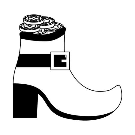 shoe filled coins happy st patricks day vector illustration Ilustração