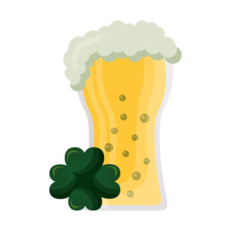 beer and clover happy st patricks day vector illustration Archivio Fotografico - 125835846