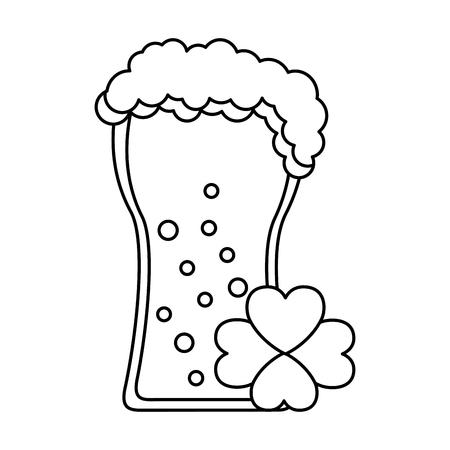 beer and clover happy st patricks day vector illustration Illustration