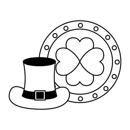 coin and hat happy st patricks day vector illustration Archivio Fotografico - 125835918