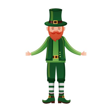 leprechaun happy st patricks day vector illustration