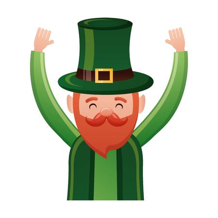 leprechaun happy st patricks day vector illustration Foto de archivo - 115984038