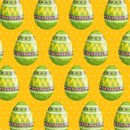 easter egg with figures decoration background vector illustration