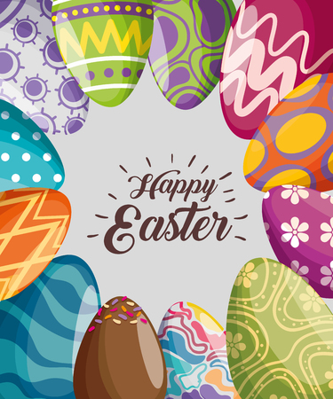easter eggs decoration to event celebration vector illustration 免版税图像 - 125837336