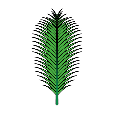 green palm leaf on white background vector illustration Ilustração