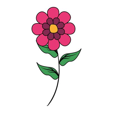 bloem stam decoratie op witte achtergrond vectorillustratie