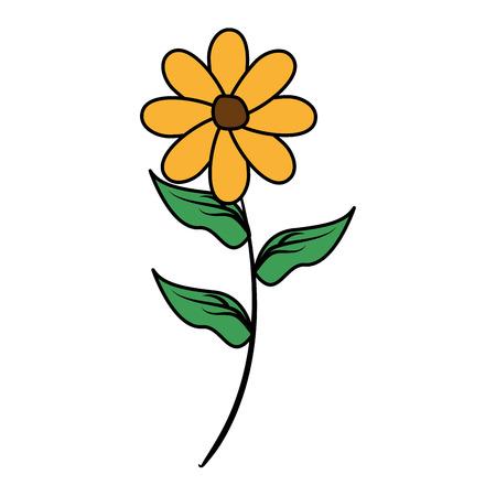 flower stem decoration on white background vector illustration