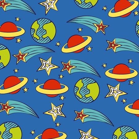 planet star world background back to school vector illustration Ilustração