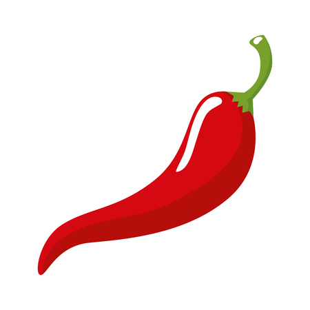 chili pepper hot icon vector illustration design  イラスト・ベクター素材