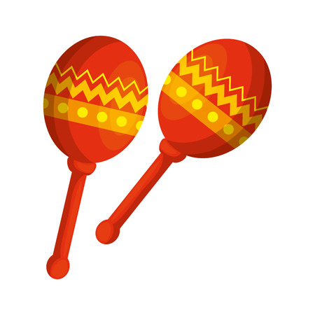 mexican maracas instrument icon vector illustration design Reklamní fotografie - 125818604