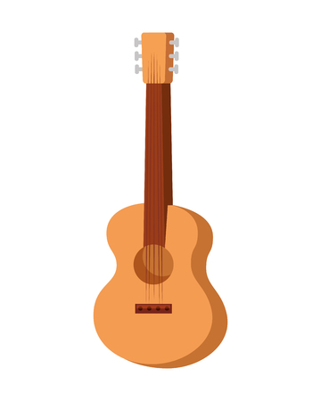guitar instrument music icon vector illustration design
