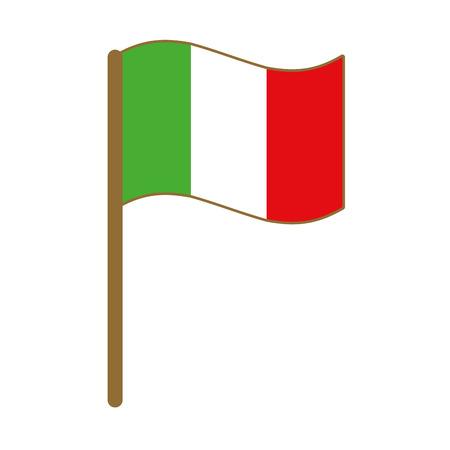 italian flag isolated icon vector illustration design  イラスト・ベクター素材