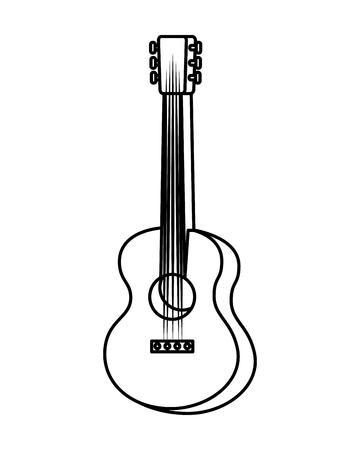 guitar instrument music icon vector illustration design