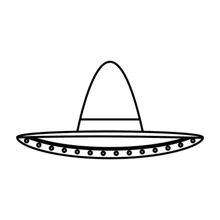 mexican mariachi hat icon vector illustration design