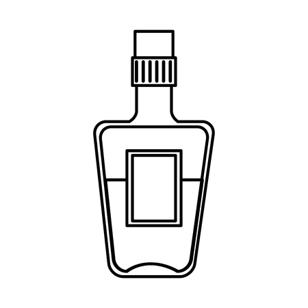 L'icône de boisson bouteille tequila conception d'illustration vectorielle