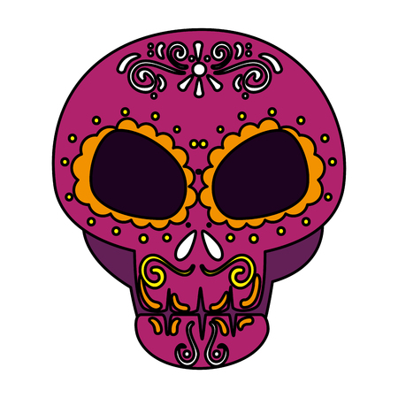 death day mask celebration vector illustration design