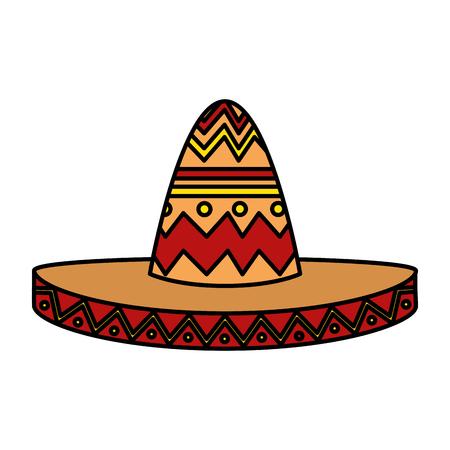 mexican mariachi hat icon vector illustration design