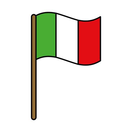italian flag isolated icon vector illustration design Illustration