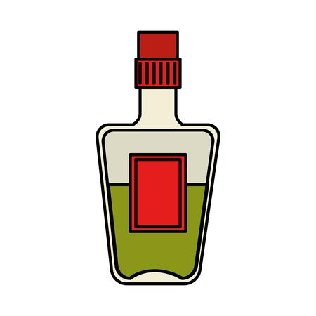 tequila bottle beverage icon vector illustration design