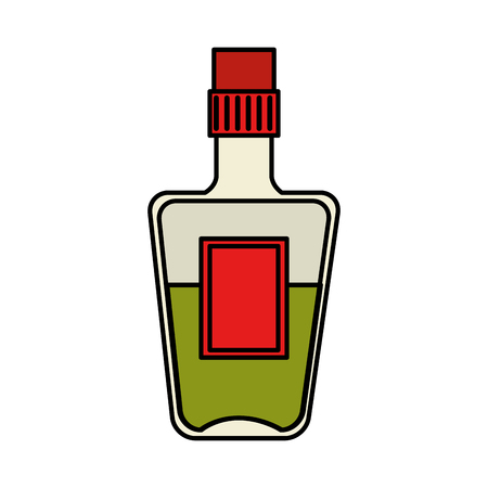 tequila bottle beverage icon vector illustration design