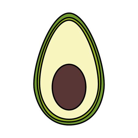 half avocado isolated icon vector illustration design 向量圖像