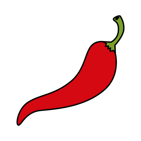chili pepper hot icon vector illustration design Illustration