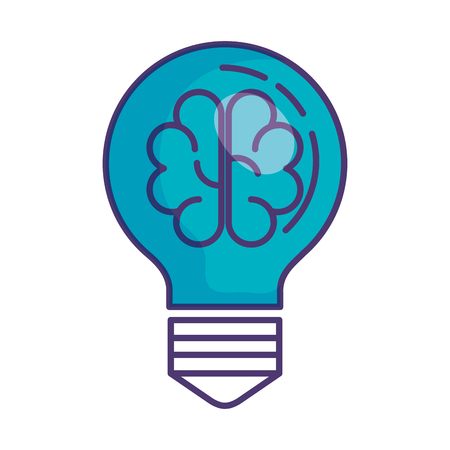 bulb light with brain storming vector illustration design