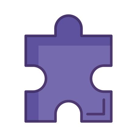 puzzle game piece icon vector illustration design
