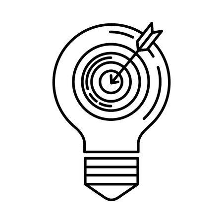 bulb with target success vector illustration design