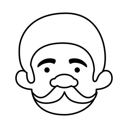 head man with mustache of macho man vector illustration design Ilustracja