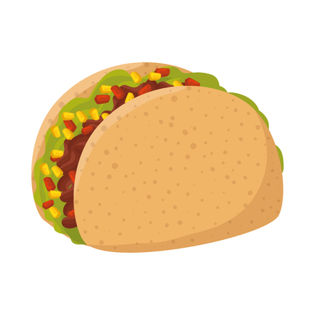 delicious taco mexican food vector illustration design