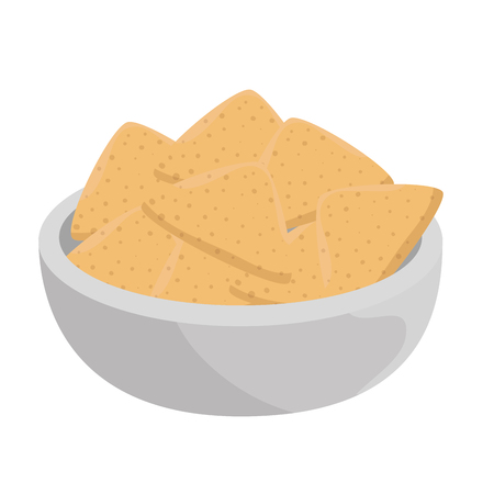 delicious nachos mexican food vector illustration design