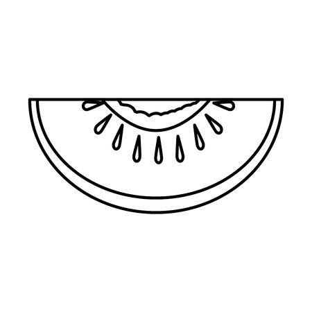 tomato half vegetable icon vector illustration design Illustration