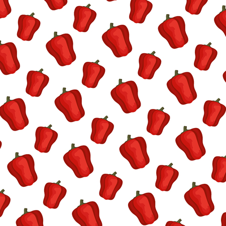 fresh pepper pattern background vector illustration design