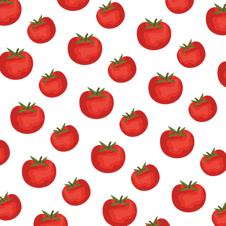 fresh tomatoes pattern background vector illustration design
