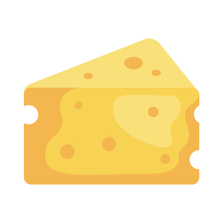 delicious cheese piece icon vector illustration design