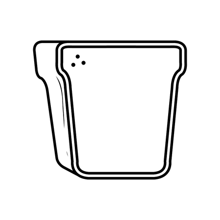 delicious bread toast icon vector illustration design Standard-Bild - 116196605