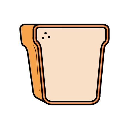 delicious bread toast icon vector illustration design Ilustração