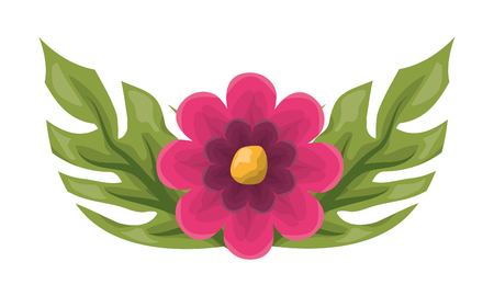 flower leaves foliage on white background vector illustration Illusztráció