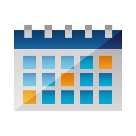 calendar reminder planner on white background vector illustration Illustration