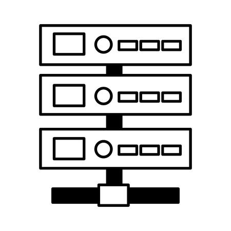 database center server on white background vector illustration Ilustrace