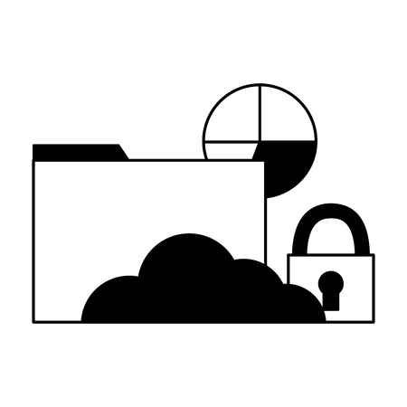 cloud computing email security chart vector illustration Banque d'images - 125819504