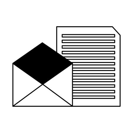 email letter message correspondence white background vector illustration  イラスト・ベクター素材